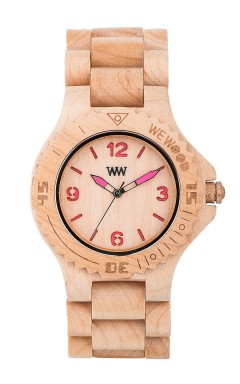 wewood, watches, her, kale beige/pink