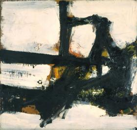 abstract expressionism, franz Kline, Orange Outline, 1955, artnc.org 58_8_8