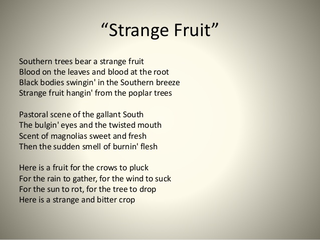 fruits list strange fruit lyrics