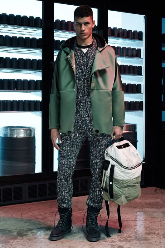 green, camo, leather jacket, men, s15, alexander wang