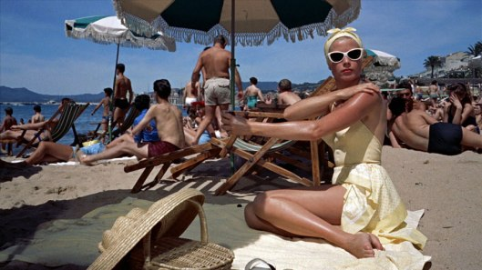 resort wear, grace kelly , 1955, scene from to catch a theif