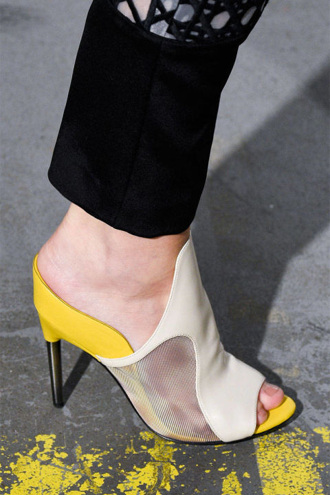 shoes, mules, mesh, heels, phillip lim