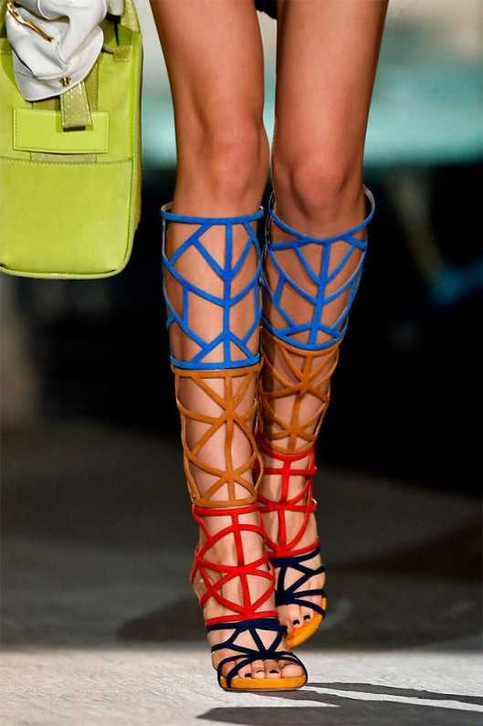 gladitor, sandal, knee high, colour, dsquared2