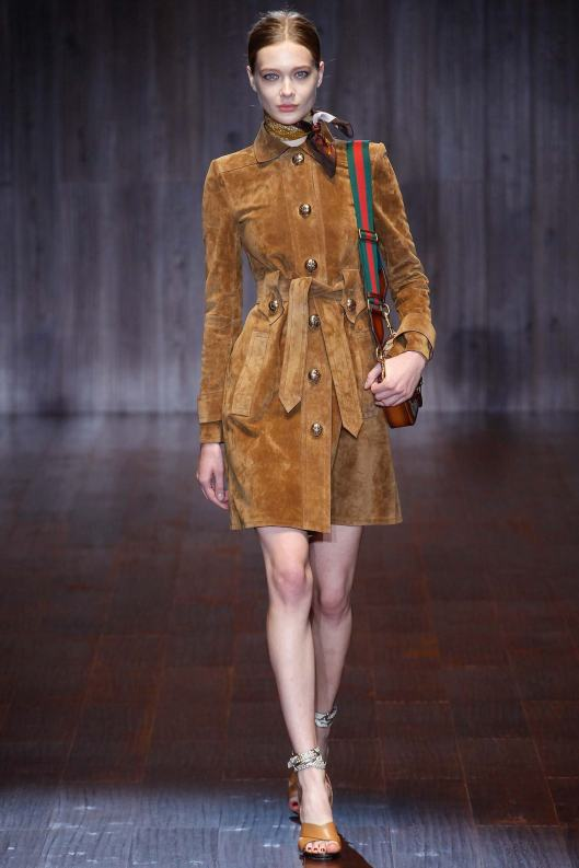 suede coat, gucci, ladies, s15