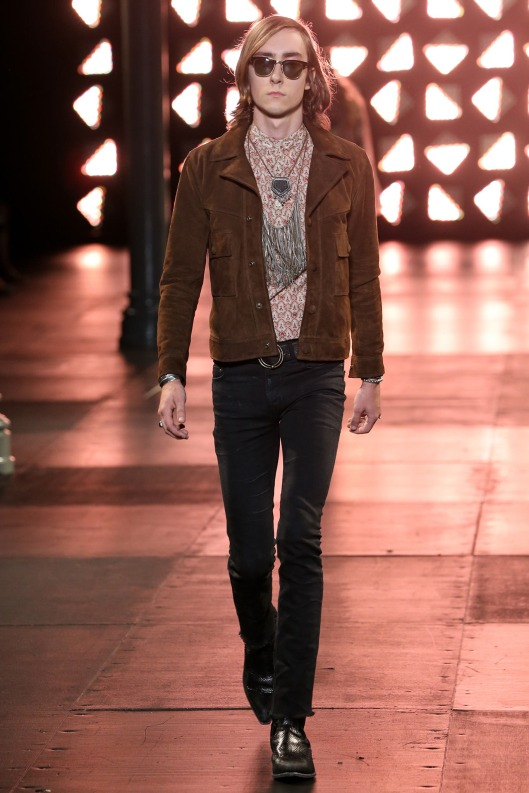 suede jacket, men, saint laurent, s 15