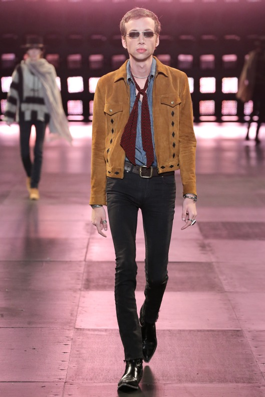 suede jacket, men, saint laurent, s15