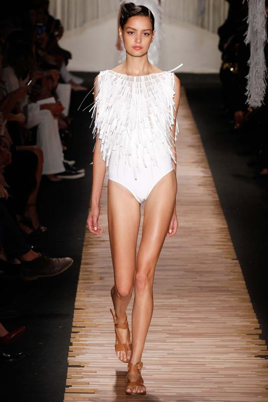 wimming costumes, fringe, white, lenny niemeyer, s15
