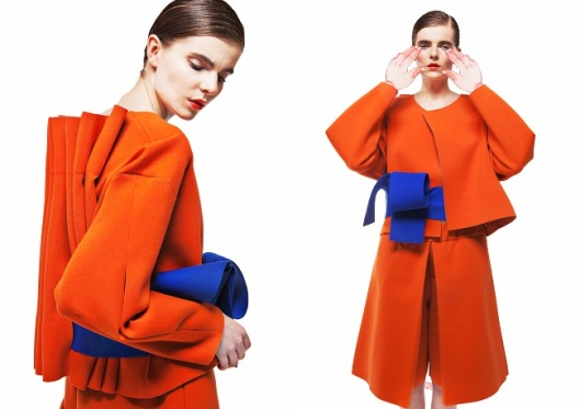 yii, womenswear, ss15, orange suit
