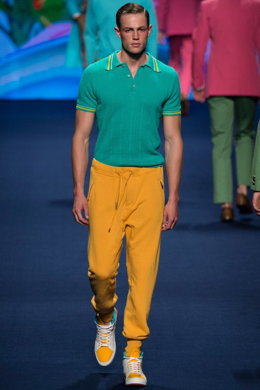 ETRo, men, s15, mustard joggers, green polo_0383.1366x2048