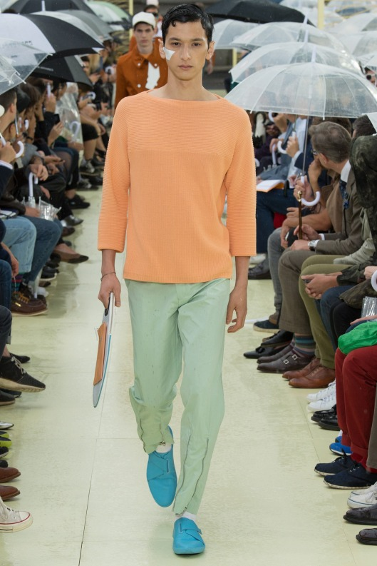 spring colours, men, 15, melon- orange/green colours. Kenzo