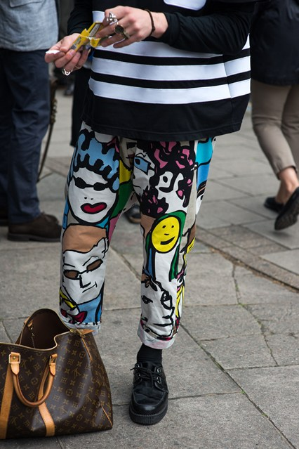 LCM, ss16, street style, funny trousers, gq DAY1-9965_426x639