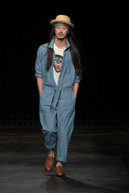 YMC Men's RTW Spring 2016,  denim jumpsuit