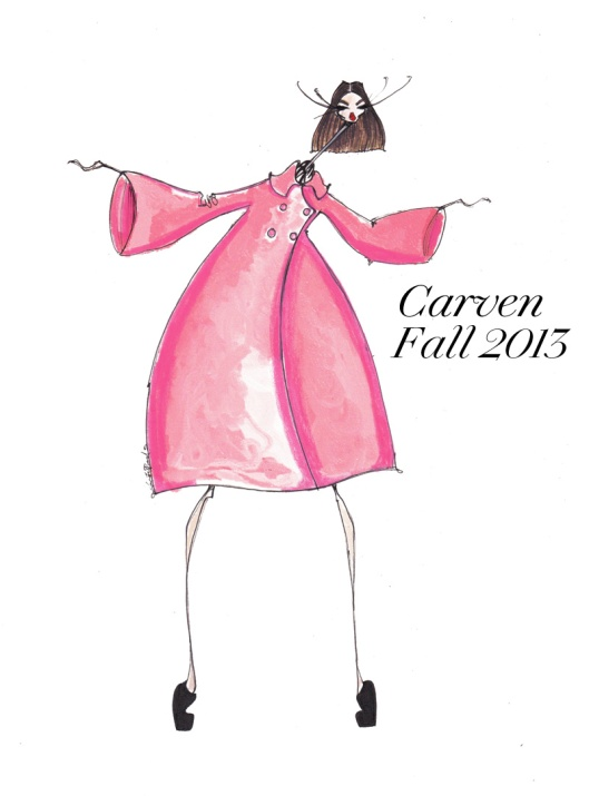 fashion illustration, jaime lee reardin, fashionmagzaine, Carven-Fall-2013-Illustration-Jamie-Lee-Reardin