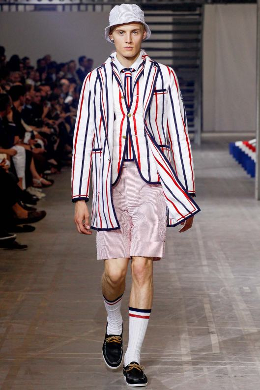 mens short trouser suiting, runway, moncler gamme bleu