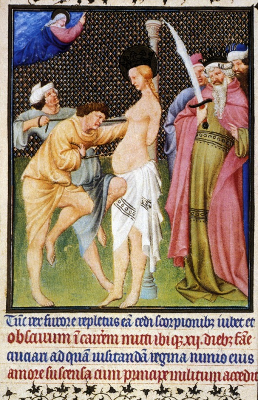 pink, Renaissance, tres riches heures, man in pink robe, oberlin.edu week11-0068