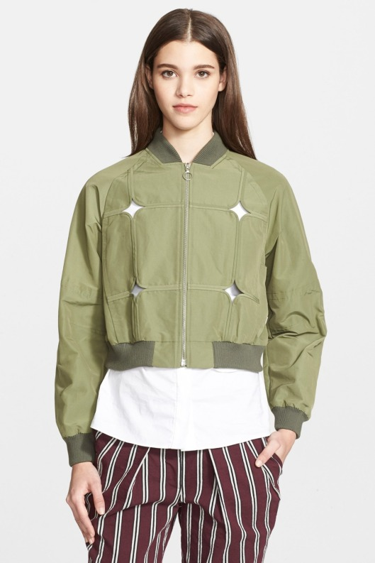 bomber jacket, cutout by yigal azrouel,