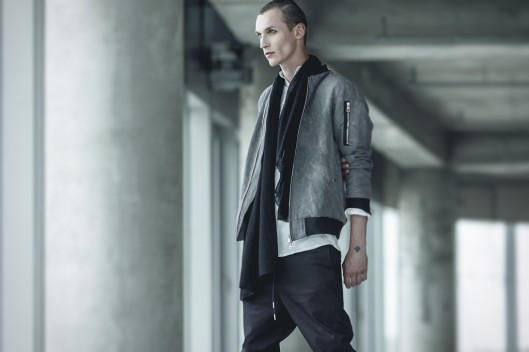 bomber jacket, men, grey leather, ss15, chasseurmagazine.com Enfin-Leve-2015-Spring-Summer-Collection-2-1024x682