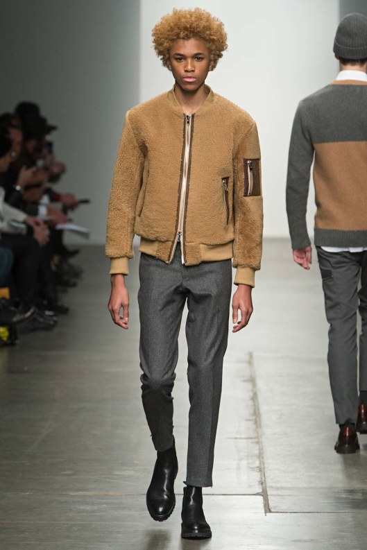 bomber jacket, men, textural, brown by ovadia & sons