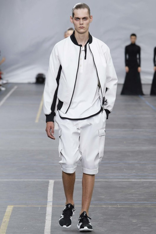 bomber jacket, men, white_black details, Y-3,