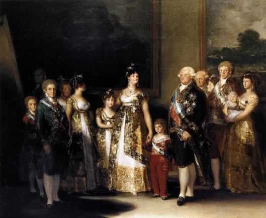 goya, portraits, family of Charles iv,