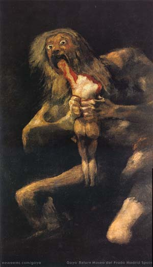 goya, saturn devouring his son