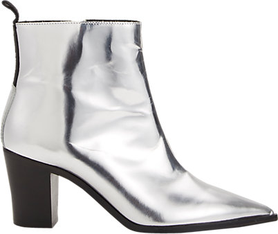 Silver Ankle Boots - Cr Boot
