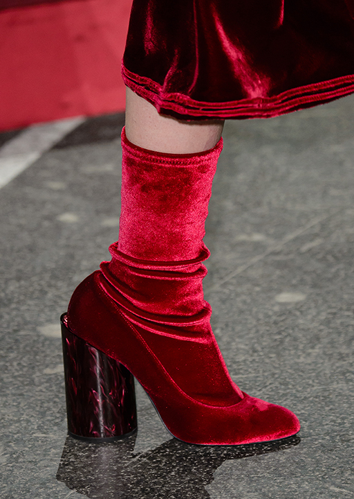 shoes, ankel boots, red, marble-ised heel