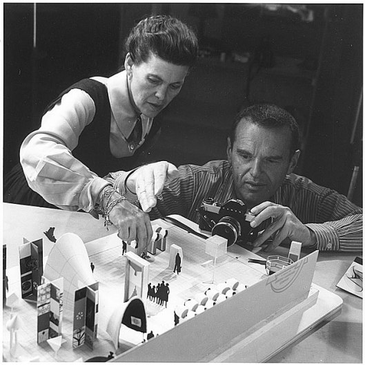 charles and ray eames, at work portrait, loc.gov