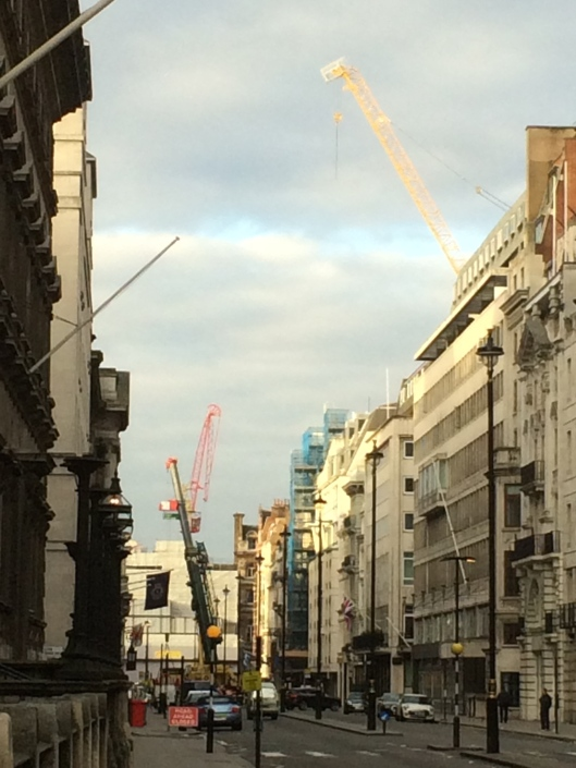 crane construction, london