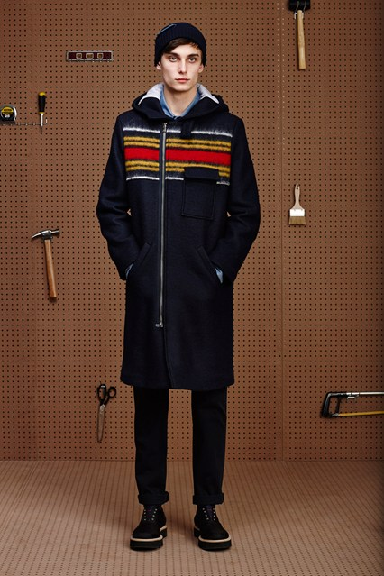 men outer wear, coloured band, zip closure band of outsiders