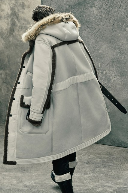 men, outerwear, white, faux fur trim details, Belstaff