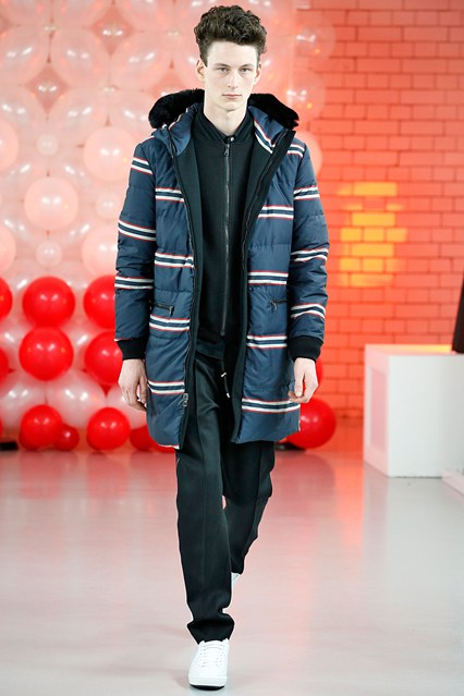 men, runway, overcoat, horizontal striped parka, a 15, baartmans and siegel