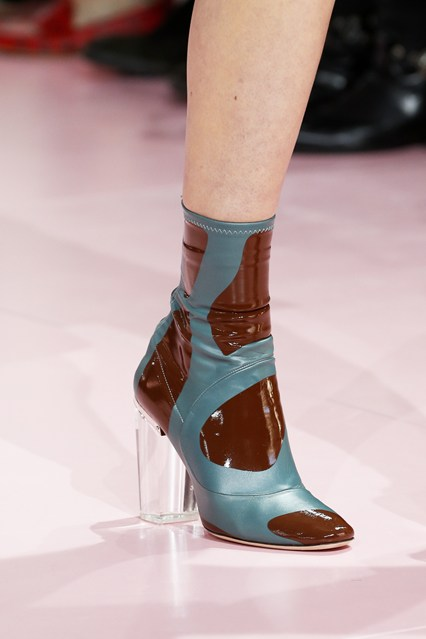 perspex heel, ankle boot chirstian dior, turquoise_brown,