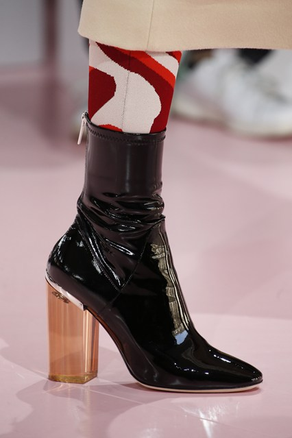 perspex heel, ankle boot, black patent,_champagne heel, chirstian dior,