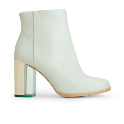 perspex heels, ankle boot, mint green, from miista,