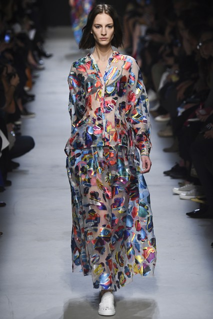 pfw, ss 2016, leonard, sheer, colourful