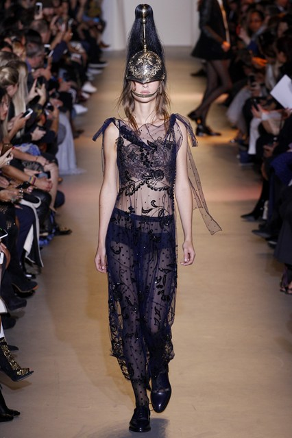pfw, ss2016, john galliano, sheer soilder