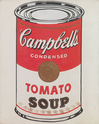 pop art, campbell soup can, warhol,