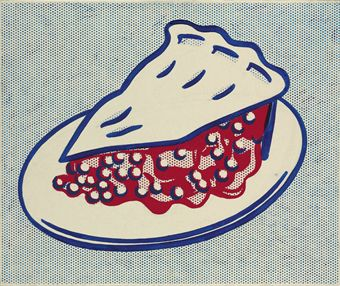pop art, cherry pie,roy_lichtenstein