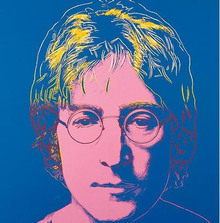pop art, john, lennon, Andy-Warhol