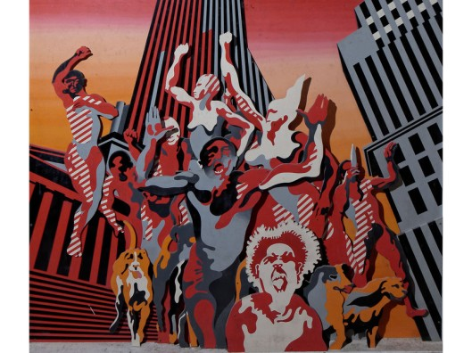 pop art, the world goes pop,Henri-Cueco-Les-Hommes-Rouges, 1968-9