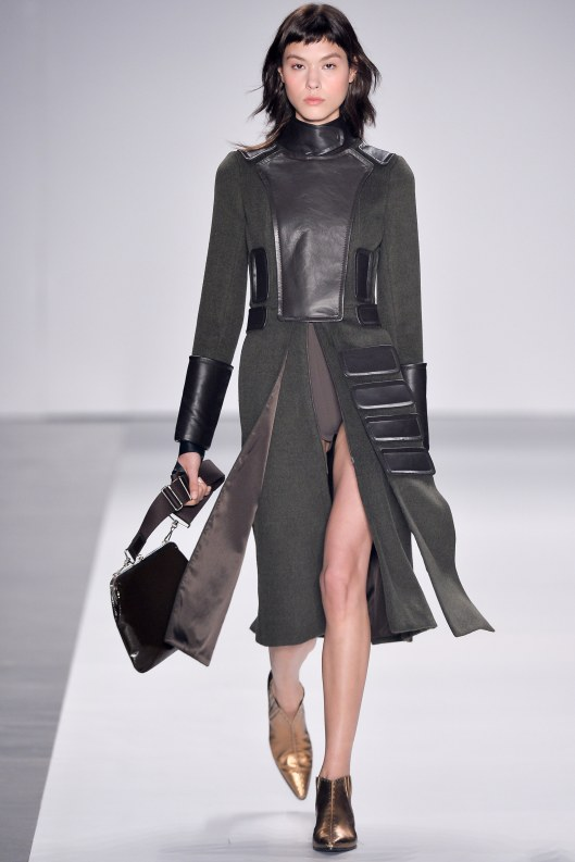 sao paulo fashion week, f 16 , gloria coelho, coat dress, panel bottom