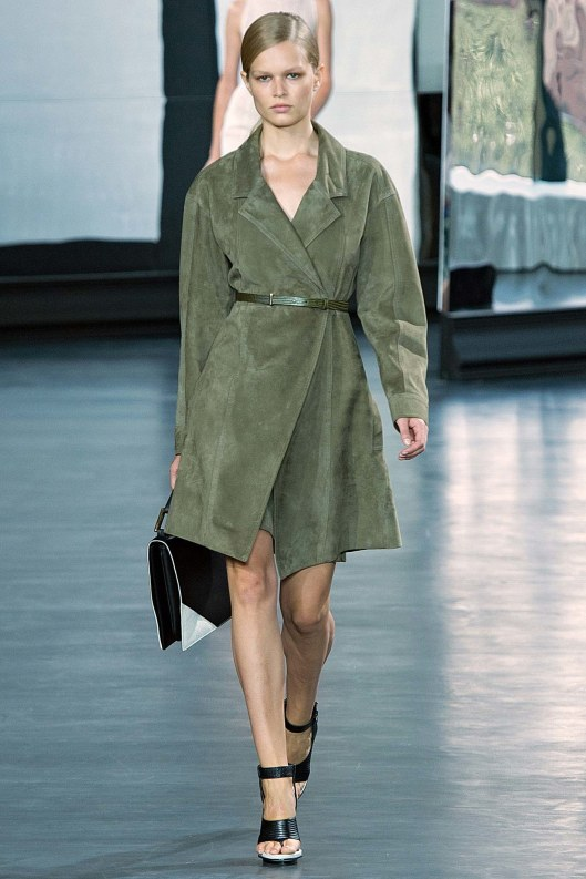 suede, green, coat dress, jason wu,