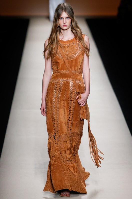 suede, maxi, lace, dress, alberta ferretti, s15, vogue.com