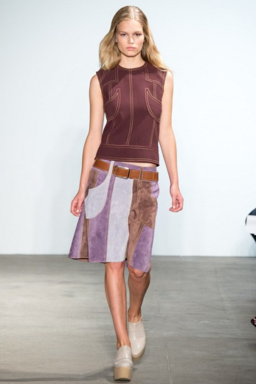 suede patchwork skirt, brown_lilac_cream derek-lam- metro.co.uk