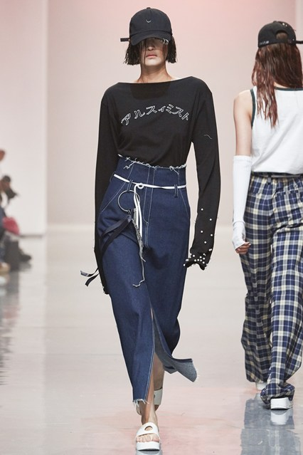denim wear, r. shemiste, skirt s16