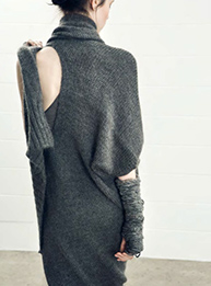 isabel benenato, dress, knit, cut out, noovoeditions