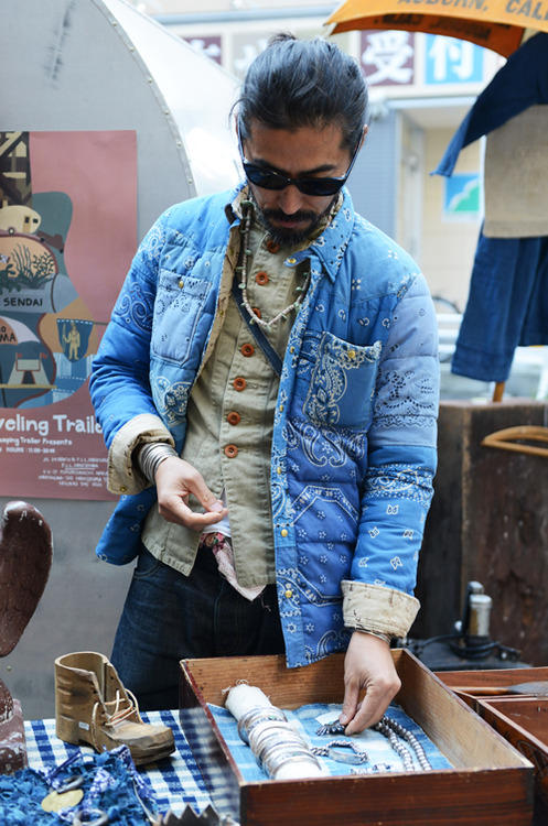 japanese denim, visvim, padded jacket, mens Stylesight