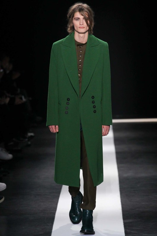 mens, outerwear, a15. ann demeulemeester, green double row buttons,