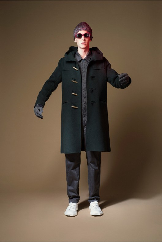 mens, outerwear, a15, green, duffel coat, traditional, Undercover